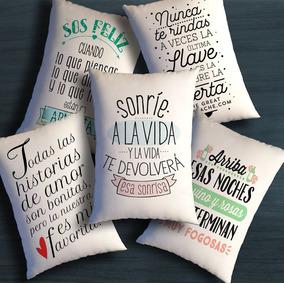 Almohadones Souvenirs Frases Personalizados 15 Por 20cm
