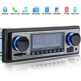 Auto Rádio Antigo Vintage Bluetooth Usb Ótima Qualidade