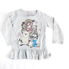 Blusa Babado Infantil - Camisetas e Blusas no Mercado Livre Brasil efcbd051ba9