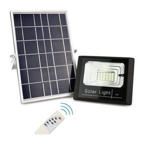 Kit 5 Refletores Lâmpada 60w Acompanha Painel Solar Bateria