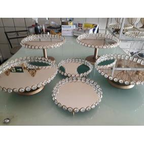 Kit 6 Bandejas Perola Ou Pedras + Espelhos ( Envio Imediato)