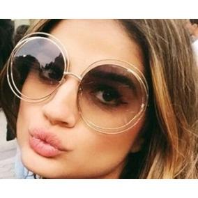 Oculos Redondo Grande Retro - Óculos De Sol no Mercado Livre Brasil c5176d56b9