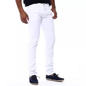 Calça Amil Branco Social Masculino C/lycra - Bolso Embutido
