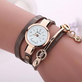 Relógio Feminino Vintage Pulseira De Couro Frete Grátis