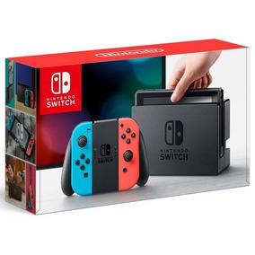 Nintendo Switch 32gb Cinza / Neon+3 Jogos+1 Camiseta Mario
