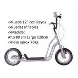 Bicicleta Monopatin Lamborghini Caño Doble Ruedas Inflables