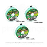 Kit 600m Linha Pesca Super Raiglon Soft 0,43mm 0,47mm 0,52mm