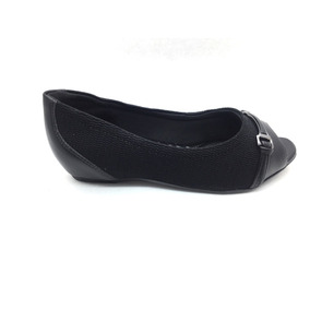 cb62a0bae Sapato Peep Toe Comfortflex Preto Elastano Frete Grátis