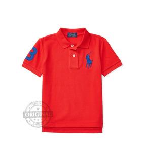 bbcf3147ce464 Camisa Vermelha Polo Ralph Lauren Menino Kids Bebê Baby Verã. R  159 99