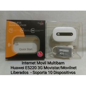 Multibam Internet Movil Wifi E5220 Liberado Movistar/movilne