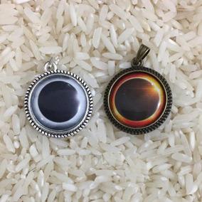 Collares Dije Pareja Eclipse Luna Y Sol