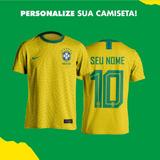 835e9fe791 Camisa Seleção Brasileira Personalizada no Mercado Livre Brasil