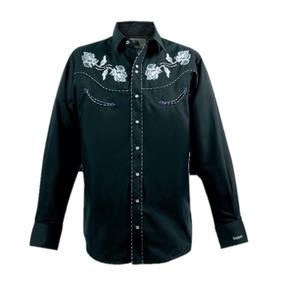 Camisa Ranger´s 139ca01 Vaquera Bordado Rosas Moda Western