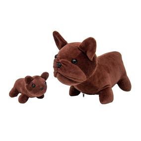 Cachorro Buldog Francês Com Filhote- Animais Pelúcia Grávida