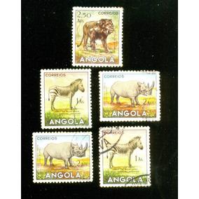 Angola Fauna 1953 Veja + Selos Clássicos, Raros E Antigos