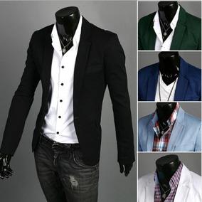 ff58e3a2e285e Saco Blazer De Hombre Moda Slim Fit Casual Elegante Tonos