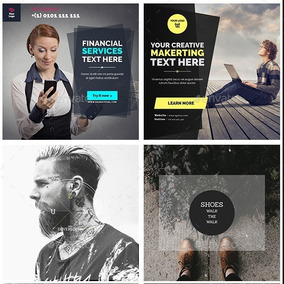 Kit 815 Banners Editáveis Para Instagram