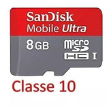 Cartão Micro Sdhc 8gb Ultra Sandisk Classe10 30mbs