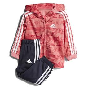 Conjunto Deportivo adidas Shiny De Niña Pantalón Campera 587c0b56eb6ad