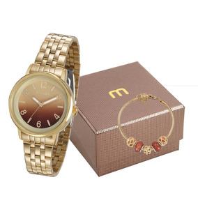 Kit Relógio Mondaine Feminino + Pulseira 99307lpmgde1k1
