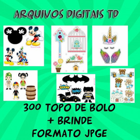 Kit Digital 300 Topos De Bolo+ Brinde Jpg