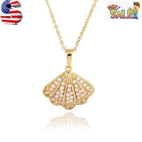 Gold - Circón Cúbico Plateado Platino Oro Sheel Ventila-7865