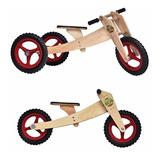 Kit Bicicleta Triciclo 1-5 Anos Woodbike 3 Em 1 Frete Grátis