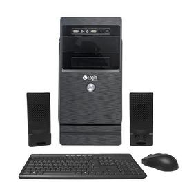 Computador Completo Login Dual Core 4gb 500gb Dvdrw Linux
