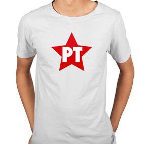 Camisa Camiseta Pt Partido Dos Trabalhadores Retrô - 6 Cores 6bd7c489547