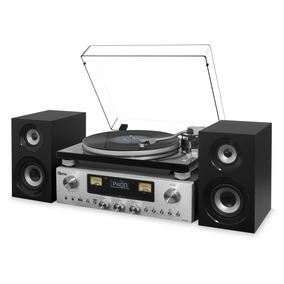 Vitrola Raveo Concert One Toca-discos Rádio Cd Bluetooth Usb