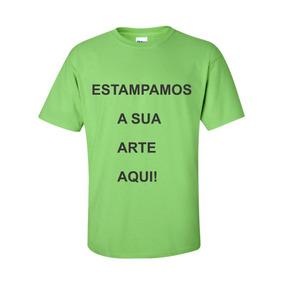 Camisetas Cor Verde Limão E Personalizada P Ao Gg