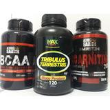 Tribulus Terrestris C Maca + L Carnitina + Bcaa 120 Caps