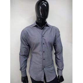 Camisa M/l Gris Azulado