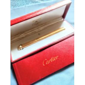 Cartier Caneta Esferografica Toda Espessurada Ouro Estojo