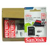 Cartão De Memoria 16 Gb Sandisk Ultra Caixa Com 10 Unidades