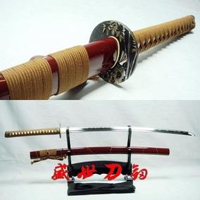 Espada Katana Afiada Samurai Tradicional Original Aço 1060