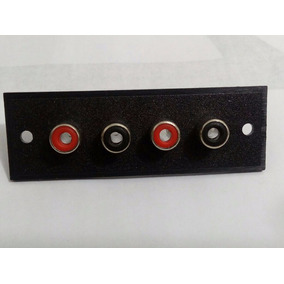 Kit 20 Un. Conector Rca Jack Painel Quádruplo Envio Imediato