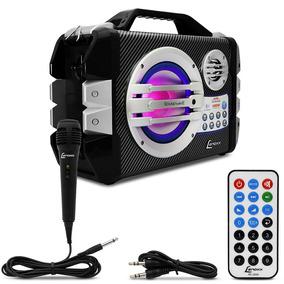 Caixa De Som Amplificada Portátil Lenoxx Bluetooth 100w Rms