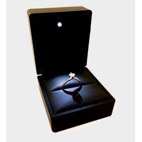 Estuche Para Anillo Compromiso Luz Led Diamantes