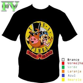 73304ea718c84 Camisa Camiseta Banda Guns n Roses Timão E Pumba Parodia