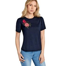 Blusa Holly Land, Cuello Redondo, Bordado Floral, Sb 172182