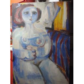Oscar Anadon Oleo Sobre Tela Desnudo 100x70cm
