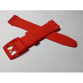 Swatch Correa Reloj Repuesto Silicona 19mm Roja