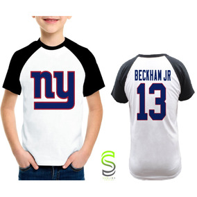 f2b1c0188 Camisa Infantil New York Giants Beckham Jr Nfl Raglan