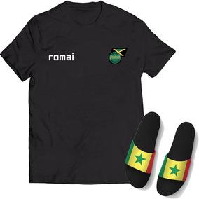 Kit 2 Camisa + Chinelo Slide Seleção Jamaica Copa Do Mundo 0b8dcb30163