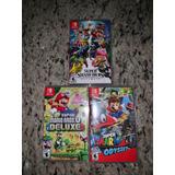Juegos Nintendo Switch, Super Smash, Mario Deluxe Y Odyssey