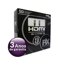 Cabo Hdmi 50 Metros 2.0 4k Ultra Hd 3d 19 Pinos 018-5020