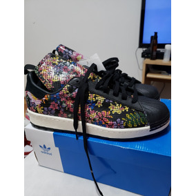 new style 49e14 0910b adidas Originals Superstar 80s Remastered 10us Nvas En Caja