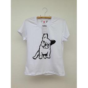 Camiseta Bulldog Frances - Camisetas Manga Curta no Mercado Livre Brasil ef6afc4e67711