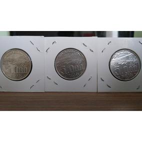 Série Moedas 5000 Réis Santos Dumont 1936/37/38 Frete Grátis